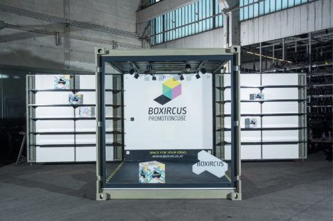 BOXIRCUS Container Promotioncube