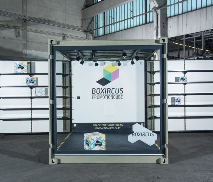 BOXIRCUS Container Promotion Cube